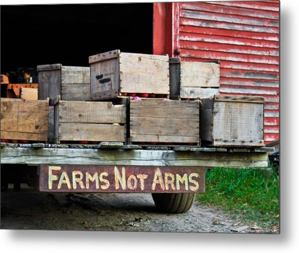 Peaceful Applecart  Metal Print by DustyFootPhotography