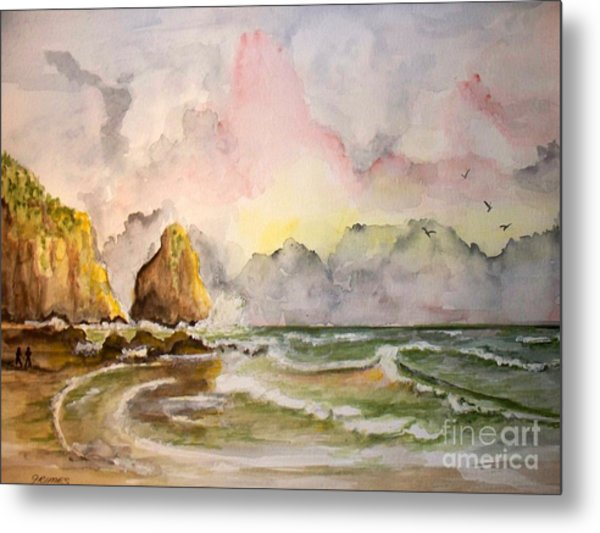 Peaceful Cove Metal Print