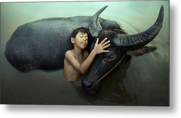 Peaceful Metal Print by Fahmi Bhs