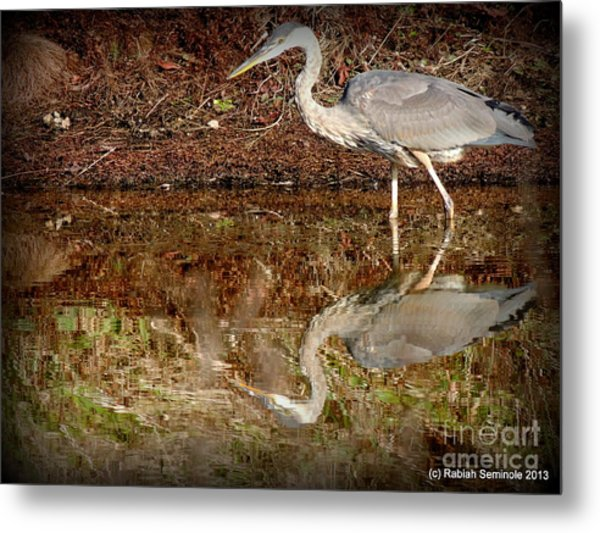 Peaceful Hunter Metal Print