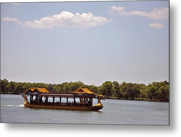 Peaceful Lake Metal Print by Judith Russell-Tooth