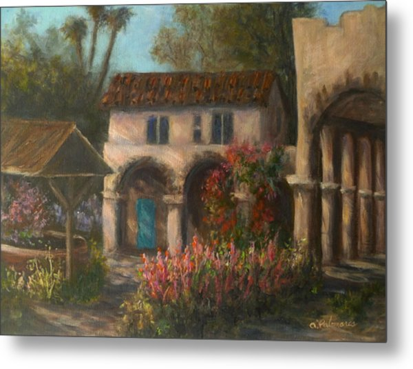 Peaceful Landscape Paintings Metal Print