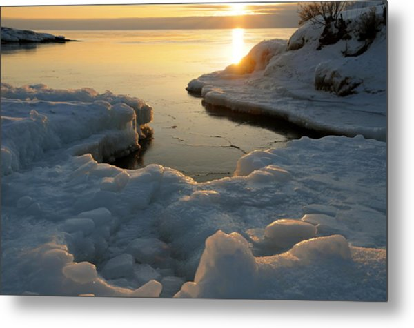 Peaceful Moment On Lake Superior Metal Print