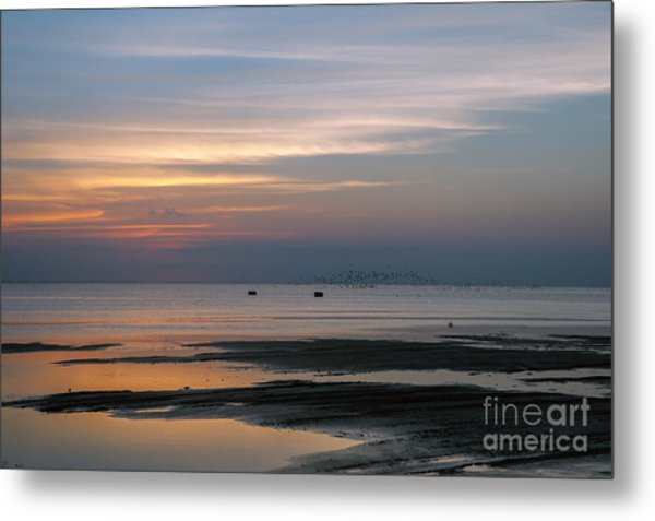 Peaceful Sunset Metal Print by Tammy Smith