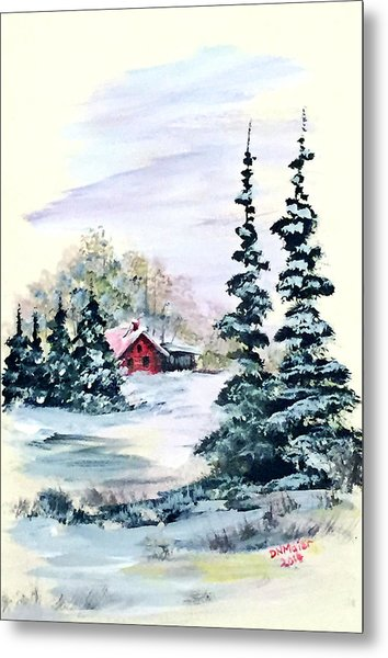 Peaceful Winter Metal Print