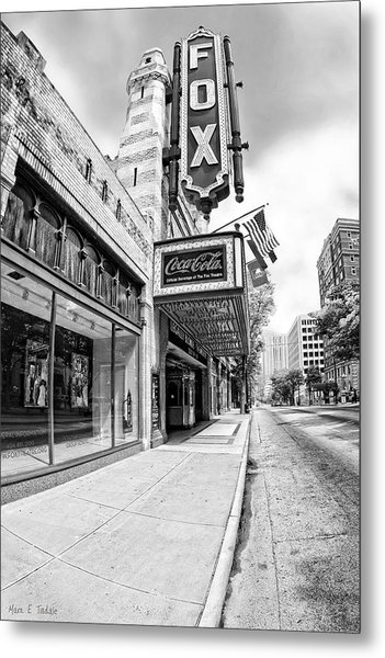 Peachtree Street And The Fox Theatre - Atlanta Metal Print
