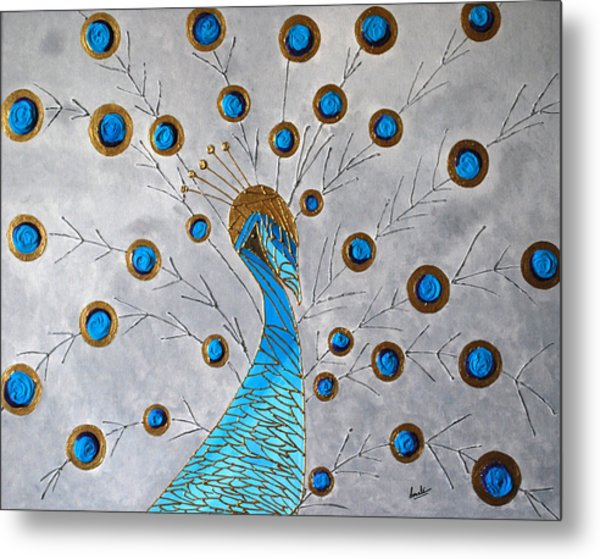 Peacock And Its Beauty Metal Print