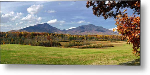 Peaks Of Otter In Autumn Metal Print