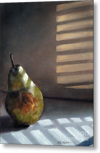 Pear In Morning Light Metal Print