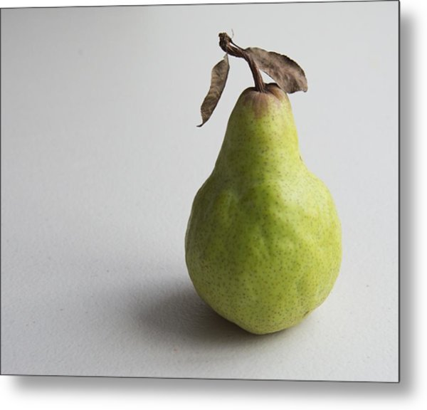 Metal Print featuring the photograph Pear Still Life Protrait by Jocelyn Friis