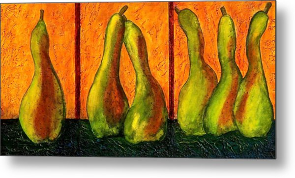 Pear Whimsy Metal Print