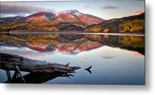 Pearl Lake Sunset Panorama 1 Metal Print