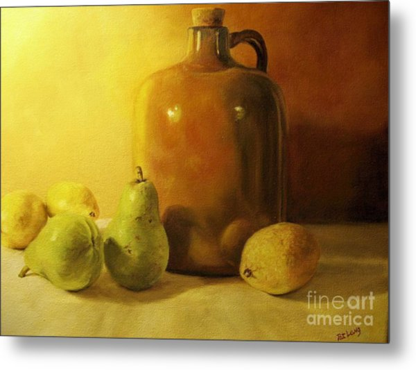 Pears And Lemons Metal Print