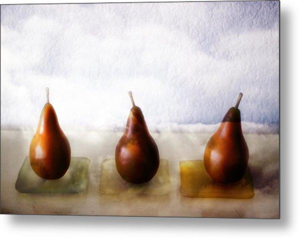 Pears In The Clouds Metal Print