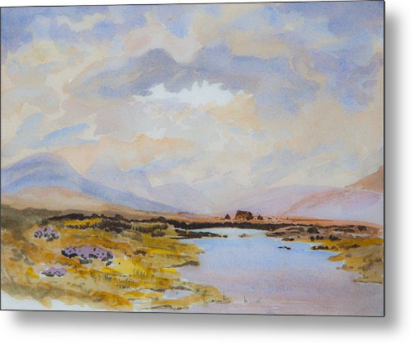 Peat Bogs Of Connemara Metal Print