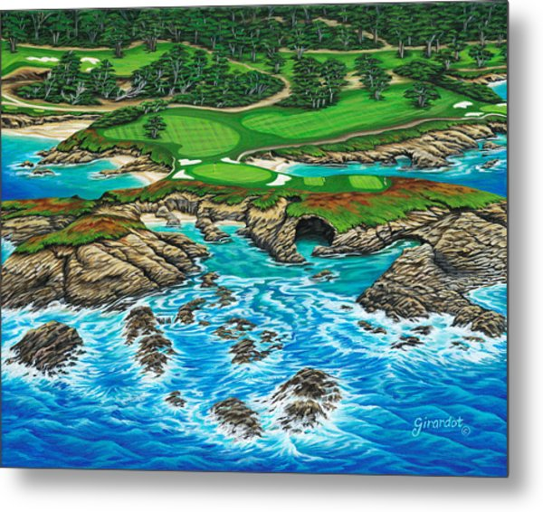 Pebble Beach 15th Hole-north Metal Print