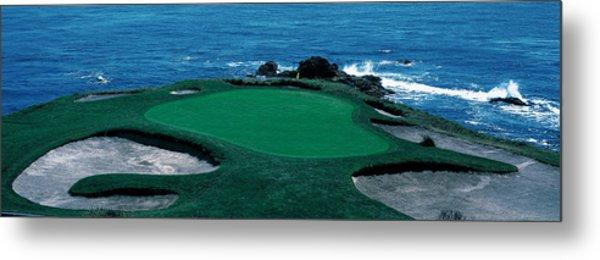 Pebble Beach Golf Course 8th Green Metal Print