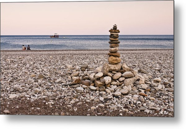 Pebble Tower Metal Print