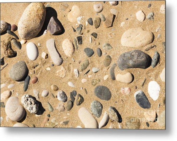 Pebbles On Beach Pattern Metal Print