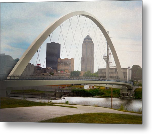Pedestrian Bridge Metal Print