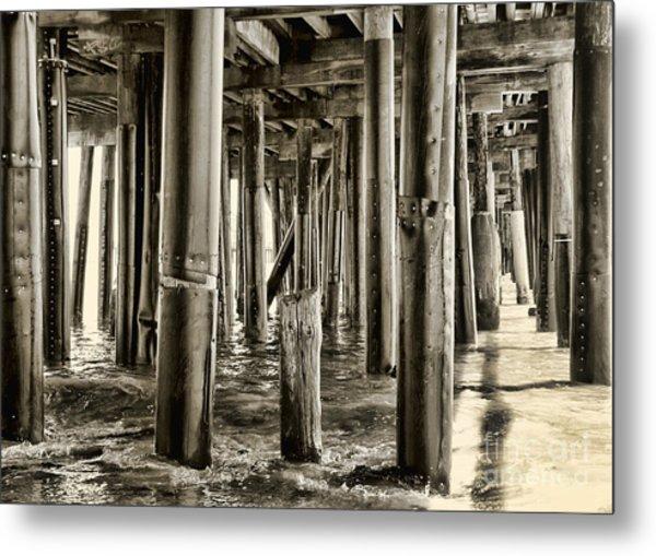 Peeking Under The Pier By Diana Sainz Metal Print