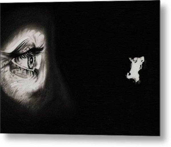 Peeping Tom - Psycho Metal Print