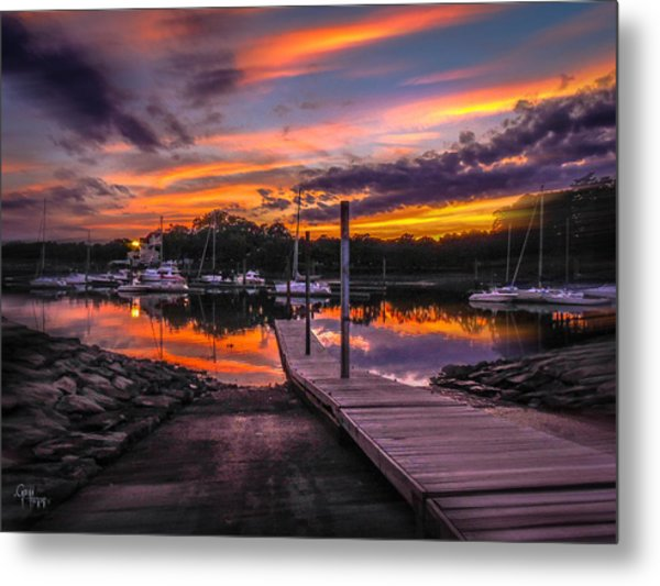 Peering At The Sunset Metal Print