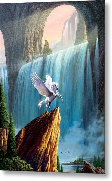 Pegasus Kingdom Metal Print