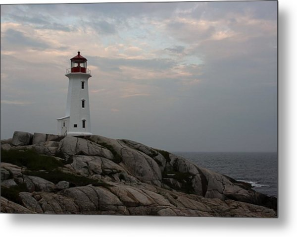 Peggy Point Lighthouse Metal Print by Tammy and Dale Anderson