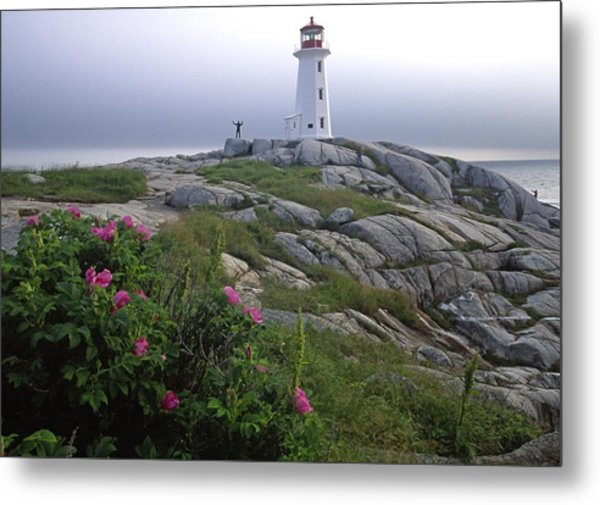 Peggy's Cove Lighthouse Nova Scotia Canada Metal Print