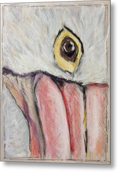 Pelican's Gaze - Study In Pastel Metal Print