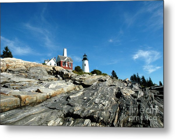 Pemaquid Point Metal Print by Alan Russo