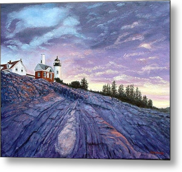 Pemaquid Point Dawn Metal Print
