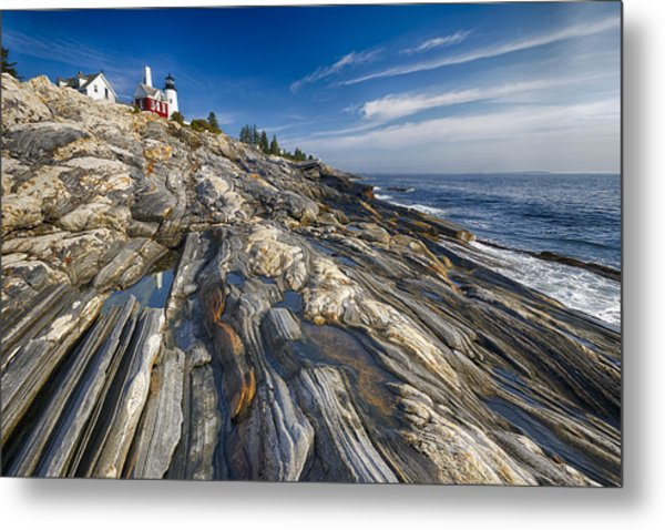 Pemaquid Point Scenic Maine Metal Print by George Oze