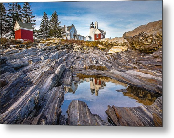 Pemaquid Reflection Metal Print