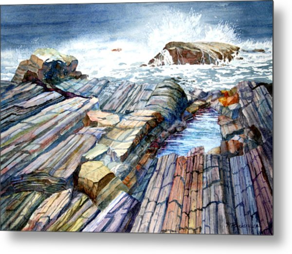 Pemaquid Rocks Metal Print