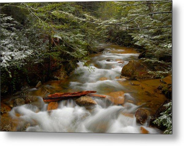 Pemigewasset River In Franconia Notch Metal Print