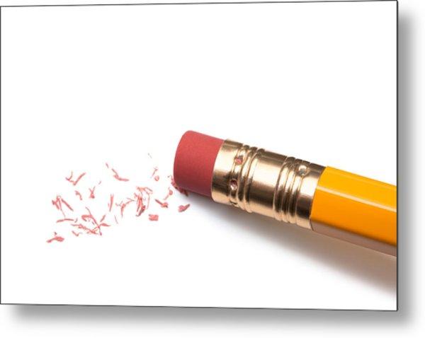 Pencil Eraser Metal Print by T_kimura