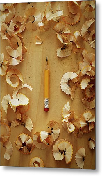 Pencil Sharpened Down To A Stub Metal Print by Joseph Clark