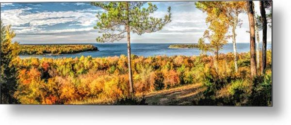 Peninsula State Park Scenic Overlook Panorama Metal Print