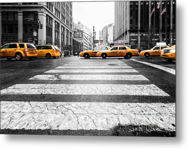 Penn Station Yellow Taxi Metal Print