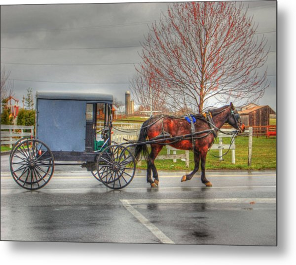 Pennsylvania Amish Metal Print