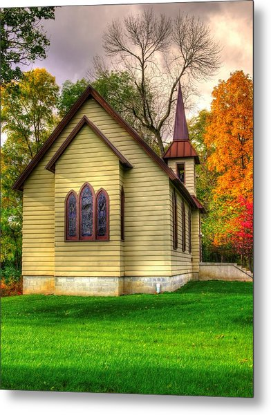 Pennsylvania Country Churches - Heckton Church At Fort Hunter Autumn - Dauphin County Metal Print