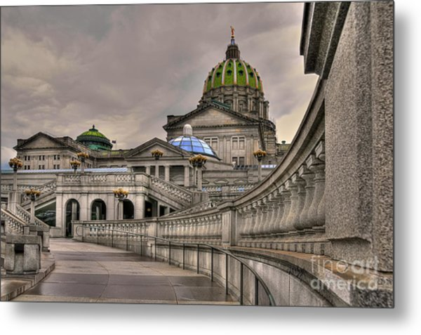 Metal Print featuring the photograph Pennsylvania State Capital by Lois Bryan