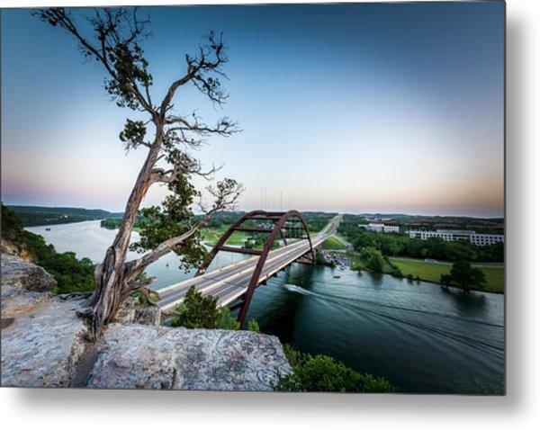 Pennybacker Bridge Austin Metal Print
