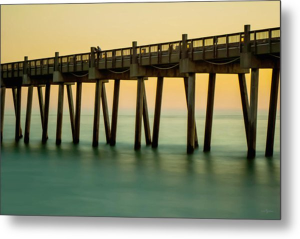 Pensacola Beach Fishing Pier Metal Print