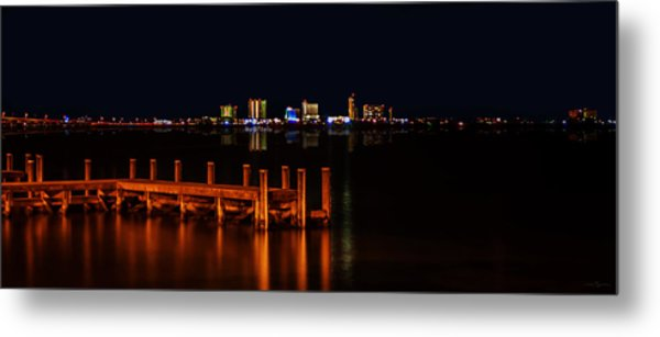 Pensacola Beach Reflections Metal Print