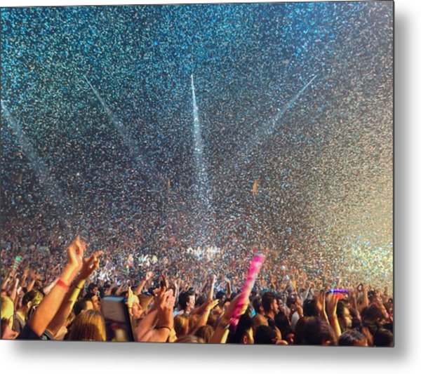 People At Concert Metal Print by Kevin Ocampo / Eyeem