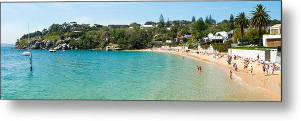 People On The Beach, Camp Cove, Watsons Metal Print