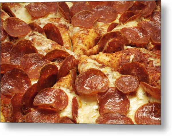 Pepperoni Pizza 1 Metal Print